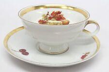 Jaeger - Harvest - Grapes & Nuts Cup & Saucer - Golden Crown E&R 1886 - D