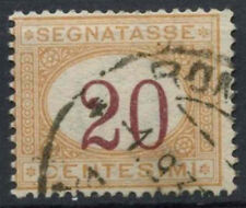 Italy 1870-1925 SG#D26, 20c Postage Due Numeral Shift Error Used #D8775