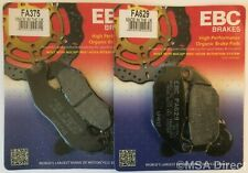 EBC Organic FRONT and REAR Disc Brake Pads Fits HONDA CBR125R (2011 to 2016)