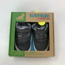 Stride Rite Surprize Baby Shoes 12-18 Gray Sneakers Stage 1 Prewalker