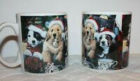 Lindy Bowman Co. Christmas Dogs Mugs set of 2