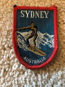 Rare Vintage Sydney Australia Surfing Patch Surfboard Souvenir