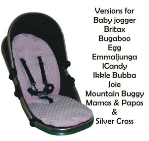 Pink Dimple Fleece Padded Seat Liners - Select your model of pushchair