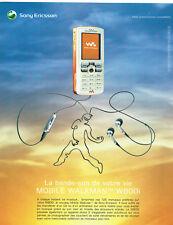 Publicité advertising 118 2005 soundtrack mobile sony ericson walkman w 800i