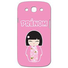 Coque 3 D Téléphone Personnalisée - SAMSUNG S3-  Kokeshi poupée japonaise rose