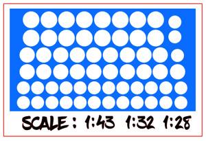DECALS 1/43 1/32 1/24 DECALCOMANIE rond blanc decal white circle slot car