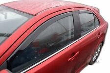DMI23357 MITSUBISHI LANCER 4 door 2007-up wind deflectors 4pc set TINTED HEKO