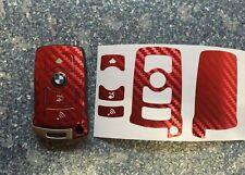 Carbon Chrom Rot Schlüssel Folie BMW Key E67 5er E67  6er 7er E65 E66 E M