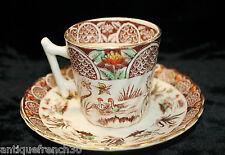 Ancienne tasse & sous tasse porcelaine opaque de Gien, modele japonais? chinois?