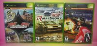 3 Game Racing Lot Original Microsoft XBOX Ralli Sport Challenge MX vs ATV Power