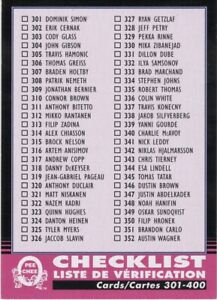 20-21 2020-21 OPC Checklist RETRO BLACK BORDER #400   36/100