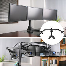 Adjustable Computer Monitor Desk Mount for 3 Horizontal LCD Flat Screen Monitor