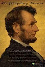 ABRAHAM LINCOLN - GETTYSBURG ADDRESS POSTER 24x36 SMITHSONIAN SPEECH 241209