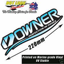 Owner Fishing Hooks Lure Rod Boat Sticker 220mm Vinyl Decal Suit Tackle Box
