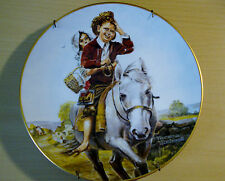 """Norman Rockwell - Collector Plate # 4003 """"Off to School"""" Certified Authentic"""