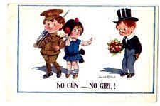CPA Carte Fantaisie Illustrateur Donald mc Gill No Gun-No Girl postcard fantasy