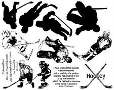 Unmounted Rubber Stamp Sheets, Sports Skates Ice Hockey, Sports Quotes & Sayings