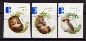 AUSTRALIA 2013 BUSH BABIES SELF ADHESIVE SET OF 3 FINE USED