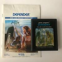 DEFENDER Atari 2600 CX2609 Original Game Cartridge & Manual