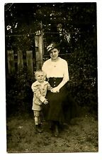 Young Mother w/ Son-Little Boy-Sweet Picture-RPPC-Vintage Real Photo Postcard