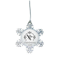 Hair Stylist Dresser Beautician Snowflake Merry Christmas 2019 Ornament Gift