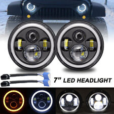 7 Inch Round Osram LED Projector Hi-Lo Beam Headlight for Motor Jeep JK TJ LJ CJ