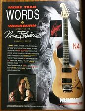 NUNO BETTENCOURT / EXTREME / 1991 WASHBURN GUITAR SIGNATURE SERIES MAGAZINE AD