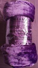 Dreamscene, Mink Throw, Double, 150 x 200cm, Purple - New
