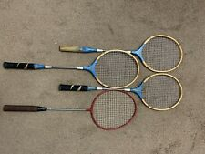 Mixed Lot of 4 Vintage Badminton Rackets