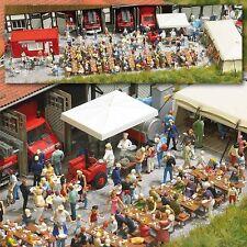 Busch 1078 POMPIER et Festival Folklorique H0 # Neuf Emballage d'ORIGINE #