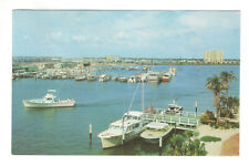 Marina and Yacht Basin Clearwater Florida Vintage Postcard AN62
