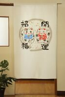 Noren japanese hanging curtain lucky cat Maneki neko 85×150cm  made in japan
