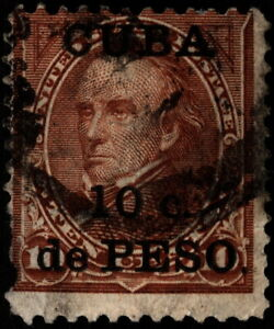 US Possessions West Indies - 1899 - 10c on 10 Cents Brown Surcharged Issue # 226
