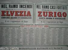 PUGLIA_BARI_MARSTALLER HAUSMANN_ASSICURAZIONI_ELVEZIA_ZURIGO_ITALIA_GENOVA_1886