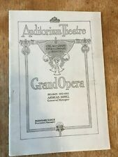 1912-1913 Chicago Civic Grand Opera Program Tales Hoffmann Advertising