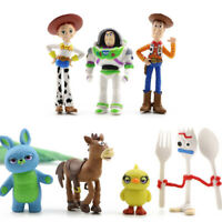 7 PCS Toy Story Kids Toys Woody Action Figure Buzz Lightyear Cake Topper Bulleye