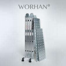 WORHAN® 4.6m Foldable Multipurpose BIG HINGE Aluminium Ladder Platforms  KS4.6+