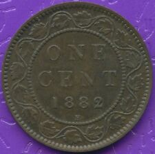 1882 'H' Canada 1 Cent Coin