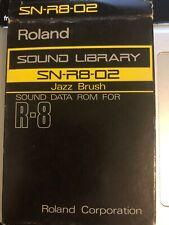Roland SN-R8-02 Jazz Cepillo ROM tarjeta Para Roland R8 en muy buena condición