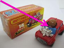 MATCHBOX 1-75 SUPERFAST Angleterre, mb14 Mini Ha Ha, Purple Driver, extrêmement rare