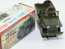 Tin Toy MARX USA,  Willys MILITARY JEEP, Batteriebetrieb OK ,im Original KARTON