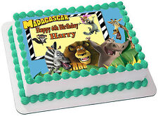 MADAGASCAR   EDIBLE  ICING  CAKE TOPPER PARTY IMAGE FROSTING SHEET