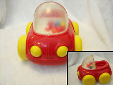 """Ball Popper Car  1992 Red Poppity Pop Push  Vintage  FISHER PRICE 6"""" great"""