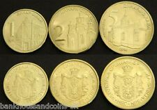 SERBIA COMPLETE FULL COIN SET 1+2+5 Dinara 2014 UNC UNCIRCULATED LOT of 3