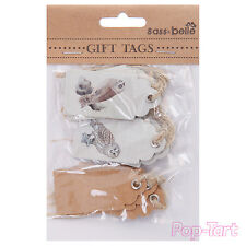 15 x Small Natural Owl Vintage Shabby Chic Paper Gift Tags Bird Craft Labels