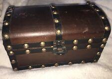 "Antique Wooden Chest Handmade in British Hong Kong 8.5"" x 5"" x 4.5""  Wood Box"