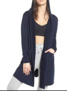NEW Zella Oversized Open Front Cardigan in Navy-Size S #NA200