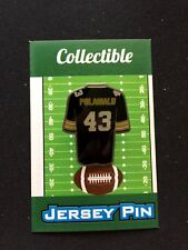 Pittsburgh Steelers Troy Polamalu lapel pin-STEEL Nation Collectable-Best Seller