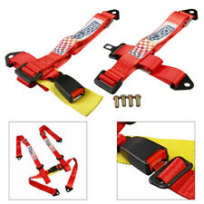 Camlock Quick Release 4PT 4 Point Racing Car Seat Safety Harness Red Universal