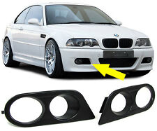 FOG LIGHT COVERS SURROUNDS BRACKETS FOR BMW E46 3 SERIES M3 BUMPER MODEL